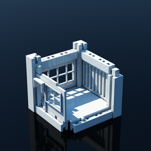 Printable Architectural Kit (Series 1) 3D Print 4472