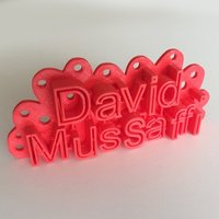 Small David's Door Sign 3D Printing 44760