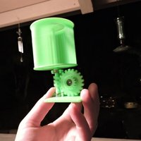 Small Mini Vertical Wind Turbine 3D Printing 44837