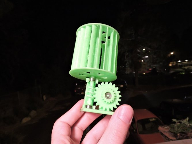 photograph about 3d Printable Wind Turbine titled 3D Published Mini Vertical Wind Turbine by means of Mike Blakemore