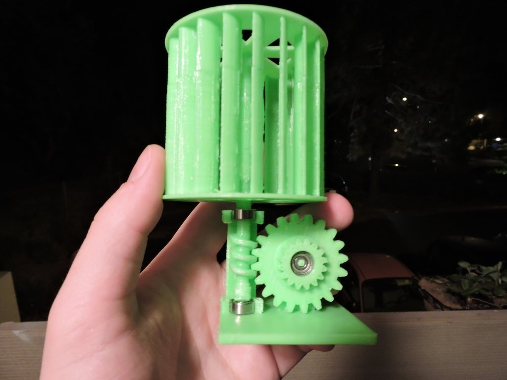 graphic regarding 3d Printable Wind Turbine identified as 3D Released Mini Vertical Wind Turbine by means of Mike Blakemore