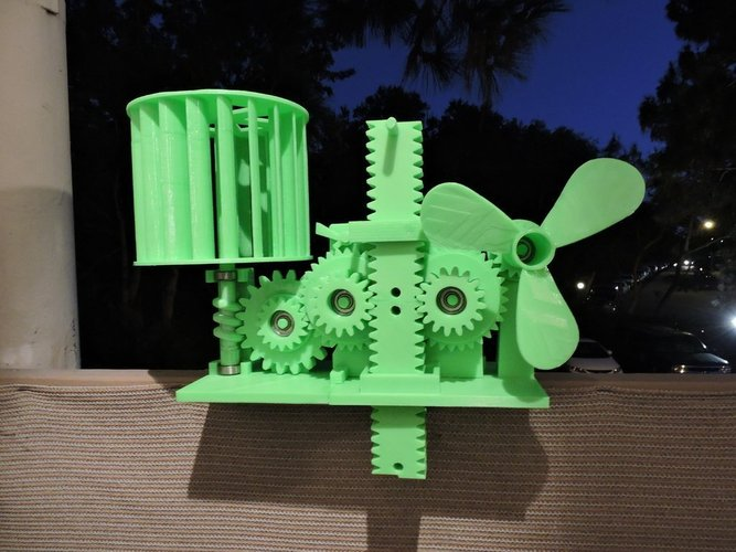 Wind Energy Stored In Gravity 3D Print 44840