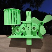 Small Wind Energy Stored In Gravity 3D Printing 44840