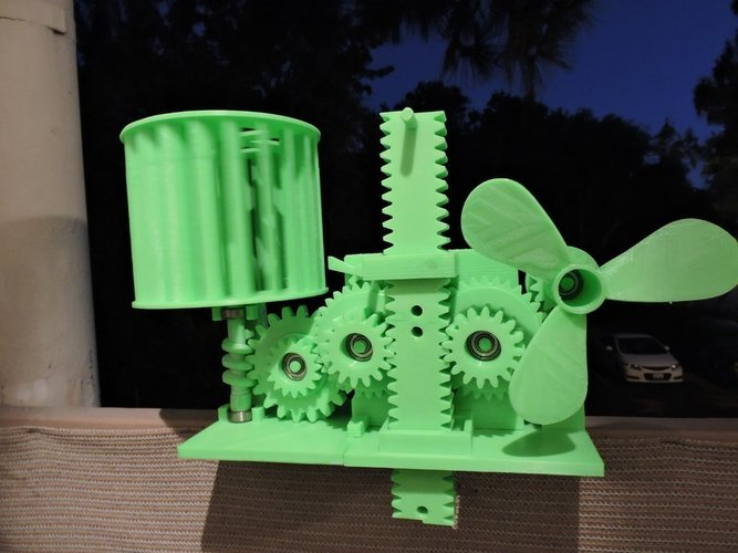 Wind Energy Stored In Gravity 3D Print 44841