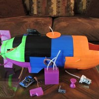 Small The Catfish - A fully working submarine 3D Printing 44848
