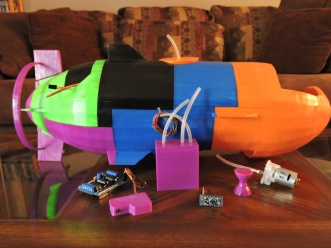 The Catfish - A fully working submarine 3D Print 44849