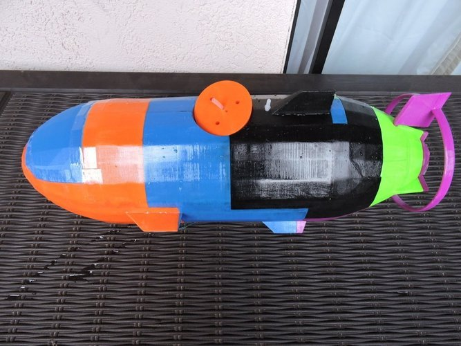 The Catfish - A fully working submarine 3D Print 44852