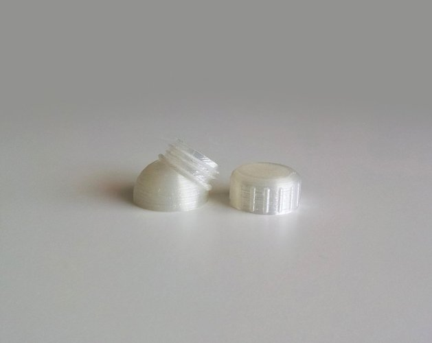 Bottle and Screw Cap 44 3D Print 44950