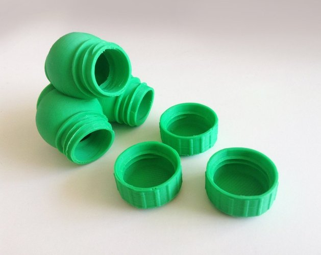 Bottle & Screw Cap 45 3D Print 44968