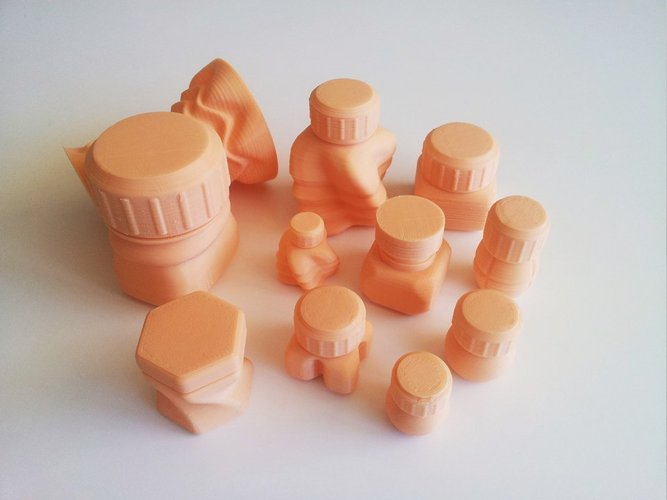 Bottles and Screw Caps 3D Print 45032