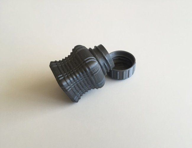 Bottle and Screw Cap 43 3D Print 45033