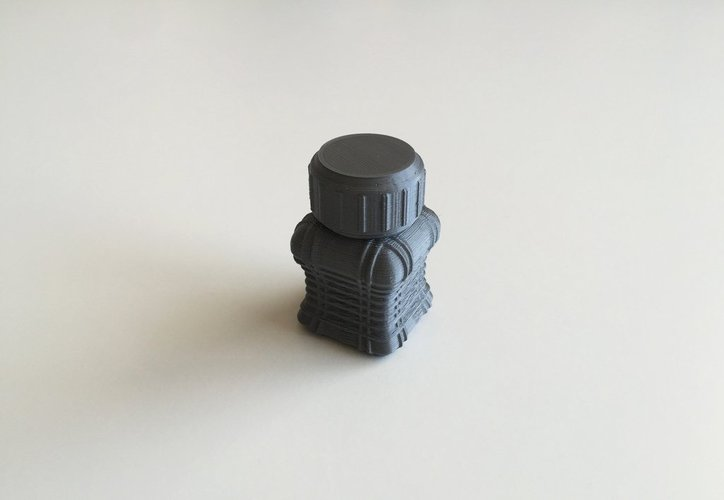 Bottle and Screw Cap 43 3D Print 45035