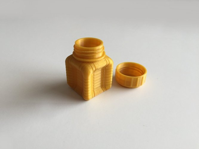 Bottle and Screw Cap 37 3D Print 45045