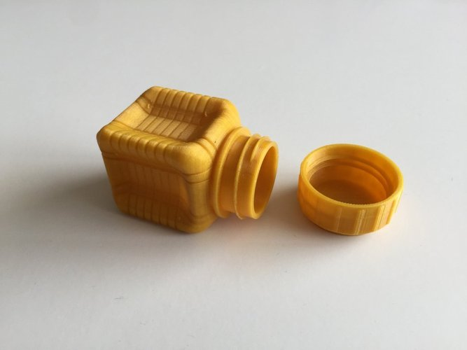 Bottle and Screw Cap 37 3D Print 45048