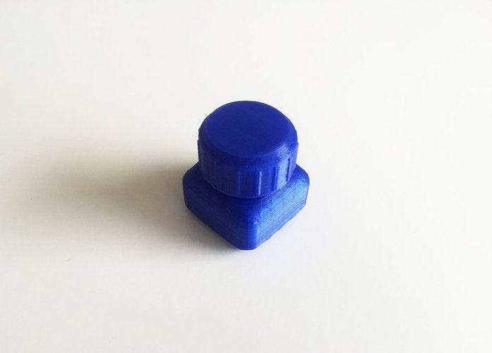 Bottle and Screw Cap 26 3D Print 45057