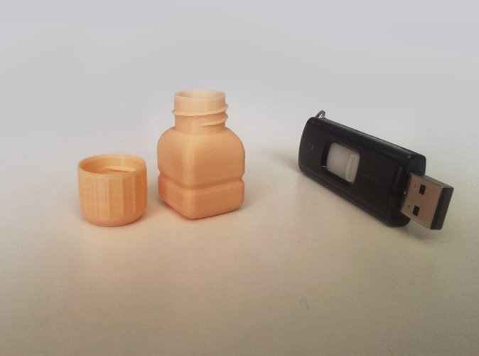 Bottle and Screw Cap 25 3D Print 45058