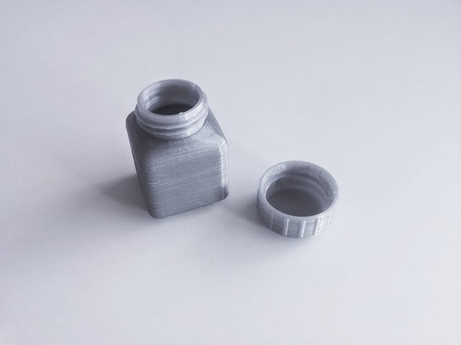 Bottle and Screw Cap 23 3D Print 45061