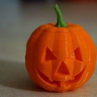 Small Jack o'lantern planter or container 3D Printing 45271