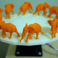 Small Walking Elephant 3D Zoetrope 3D Printing 45272