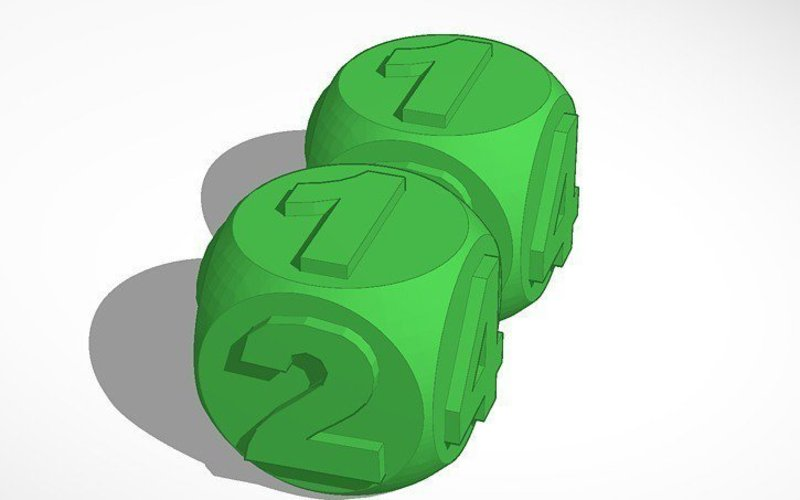 Dice For Monopoly 3D Print 45274
