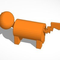 Small Dog For Monopoly With Pikachu Tail 3D Printing 45275