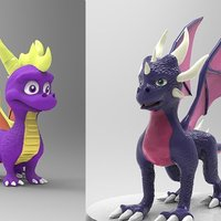 Small Spyro and Cynder 3D Printing 45367