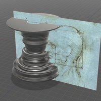 Small Head Profile Candle Holder 3D Printing 45398