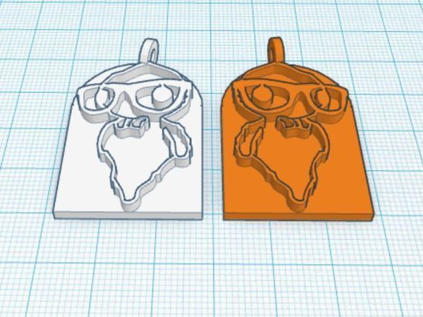 Medium Hipster Ghost Earrings 3D Printing 45518