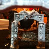 Small Stone Archway Dungeon Door 3D Printing 45633
