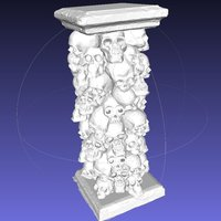 Small Skull Tower 3D Printing 45641