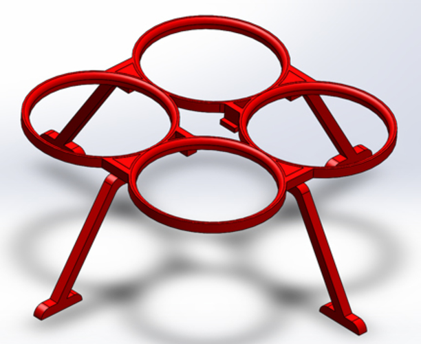 Antares Propeller Guards and Landing Gear for the Proto X 3D Print 4604