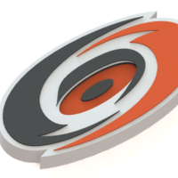 Small Carolina Hurricanes logo 3D Printing 46164