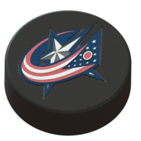 Small Columbus Bluejackets logo on ice hockey puck. 3D Printing 46458