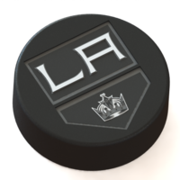 Small Los Angeles Kings logo on ice hockey puck 3D Printing 46663