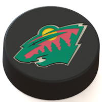 Small Minnesota Wild logo on ice hockey puck 3D Printing 46665