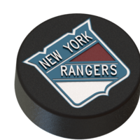 Small New York Rangers logo  on ice hockey puck 3D Printing 46678