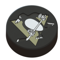 Small Pittsburgh Penguins logo on ice hockey puck 3D Printing 46700