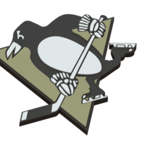 Small Pittsburgh Penguins logo 3D Printing 46701