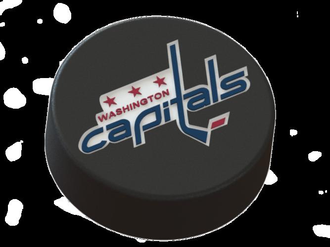 13175 3d Printed Washington Capitals Logo On Ice Hockey Puck