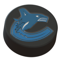 Small Vancouver Canucks logo on ice hockey puck 3D Printing 46713