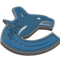 Small Vancouver Canucks logo 3D Printing 46714