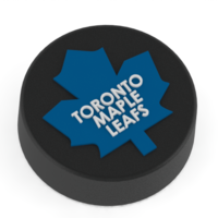 Small Toronto Maple Leafs logo on ice hockey puck 3D Printing 46717