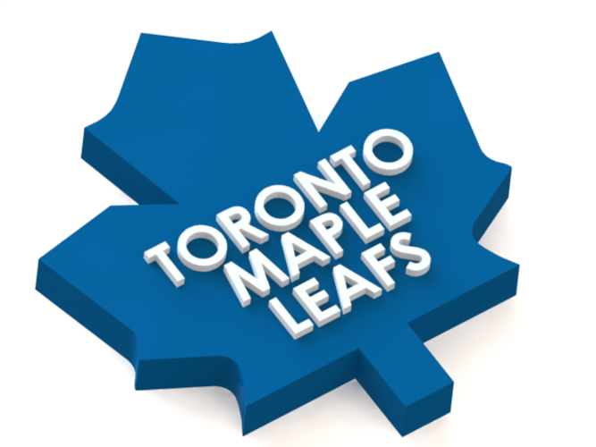 3d Printed Toronto Maple Leafs Logo By Rysard Poplavskij Pinshape