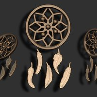 Small DreamCatcher Set 3D Printing 46759