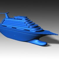 Small Toy Cruise Ship 11In 3D Printing 46890
