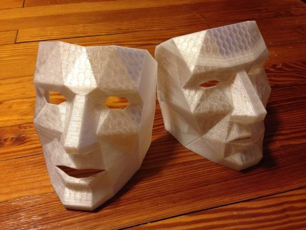 Medium Low Polygon Mask with breathing holes  3D Printing 47202