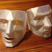 Small Low Polygon Mask with breathing holes  3D Printing 47202