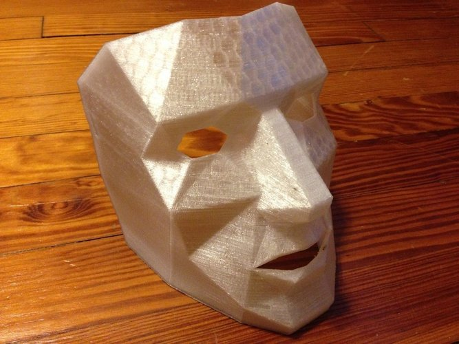 Low Polygon Mask with breathing holes  3D Print 47203