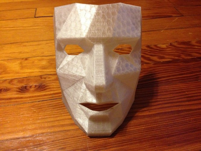 Low Polygon Mask with breathing holes  3D Print 47204