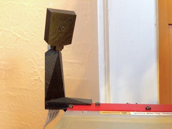 raspberry pi camera stand for Printrbot Simple  w/ cable tunnel 3D Print 47207